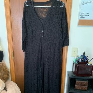 Torrid black maxi dress with lace